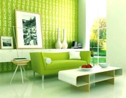 Интерьер прихожей в зеленом цвете