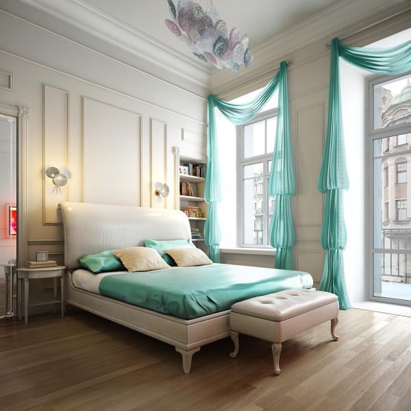 шторы бирюзового цвета