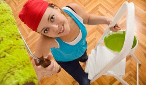 как покрасить потолок своими руками