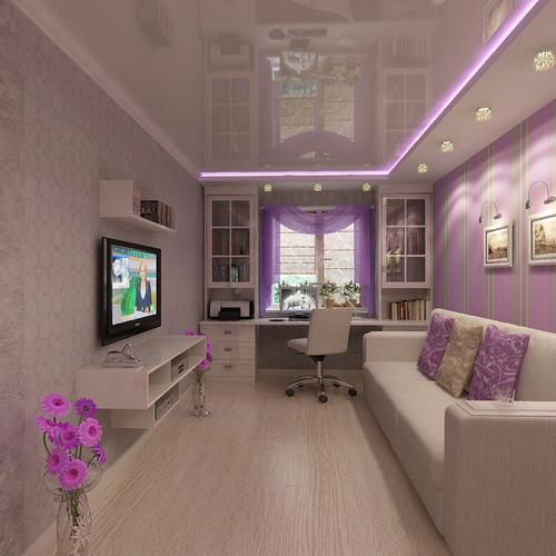Интерьер и дизайн узкой длинной комнаты