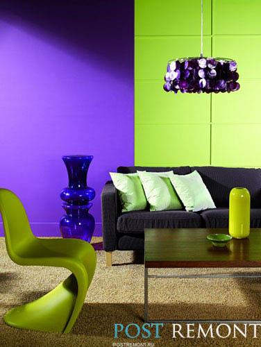 зелено-фиолетовое сочетание
