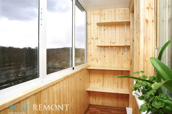 материал для отделки стен балкона
