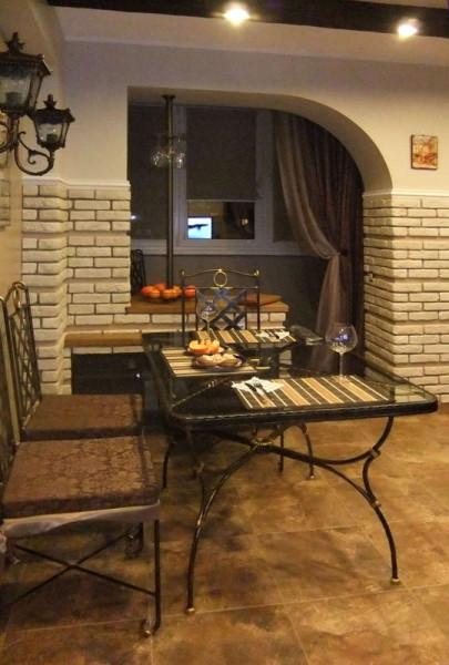 кухня в стиле кофейни