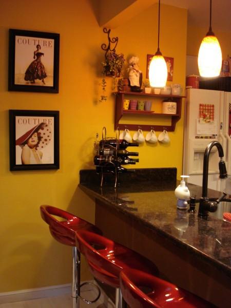 Интерьер кухни в стиле кафе