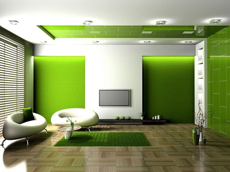 Зеленый цвет в интерьере фото | Ремонт ...