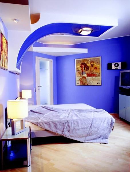 Синий цвет для дизайна спальни