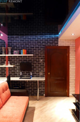 Стены в дизайне маленького зала