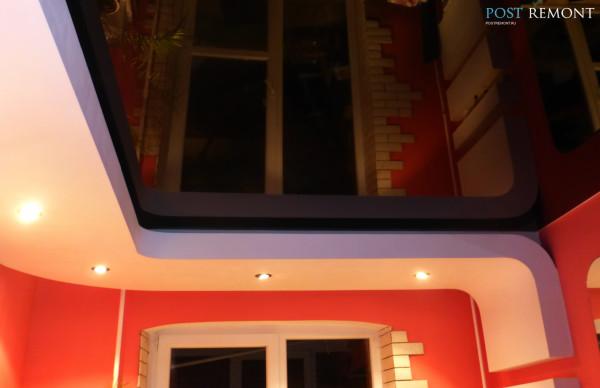 Потолки в дизайне маленького зала