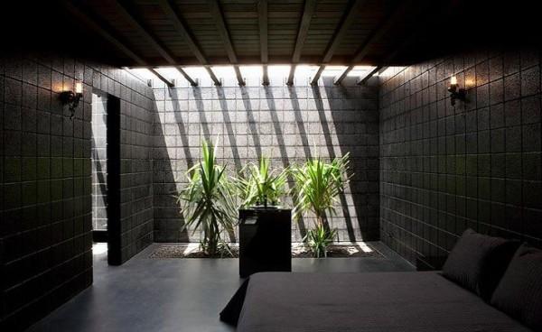 Черный цвет в дизайне стен