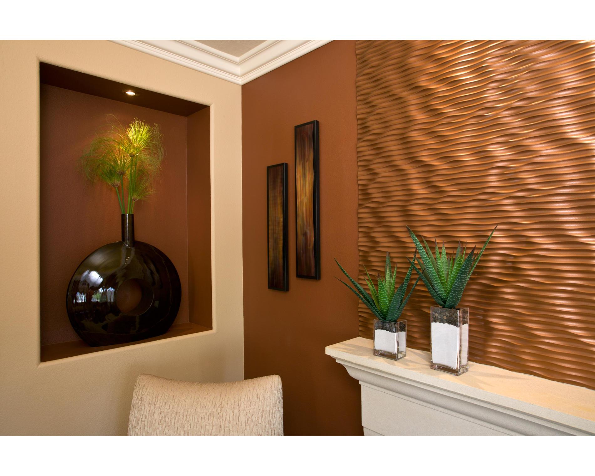 Copper Wall Paneling : Как оформить нишу в стене postremont