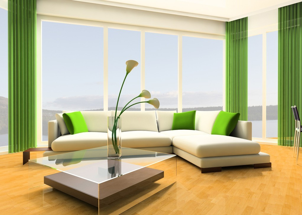 Дизайн квартиры в зеленых тонах