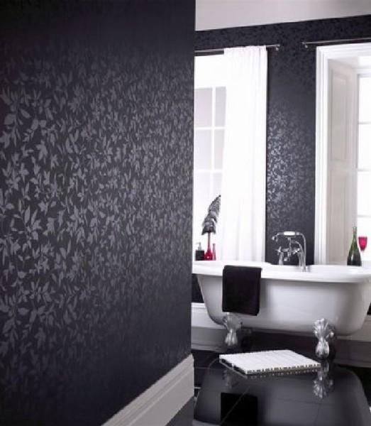 черные стены в интерьере