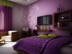 цветочные обои для спальни