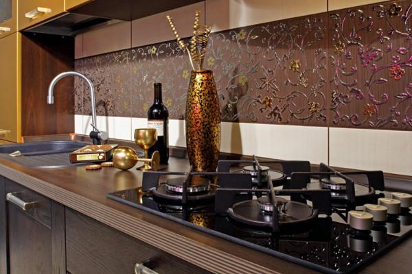 Плиточный фартук для кухни