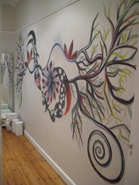 художественная роспись на стенах в квартире