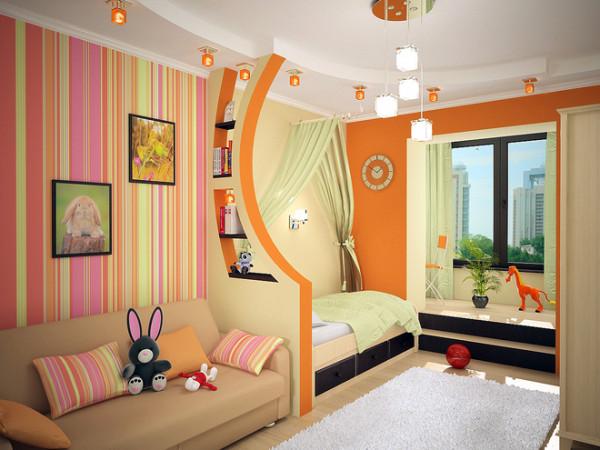цвет обоев в детской комнате