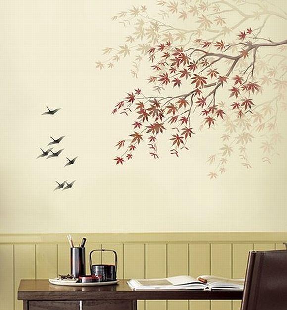 Рисунок на стенах дома своими руками