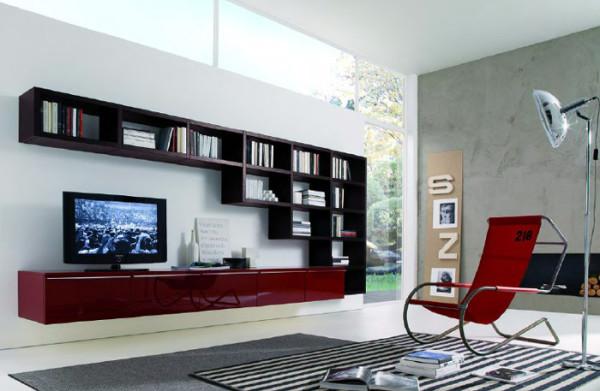 мебель под телевизор в интерьере