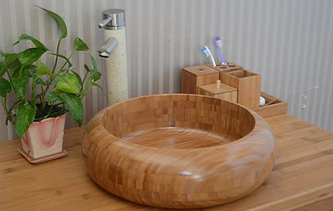 деревянная раковина в ванную