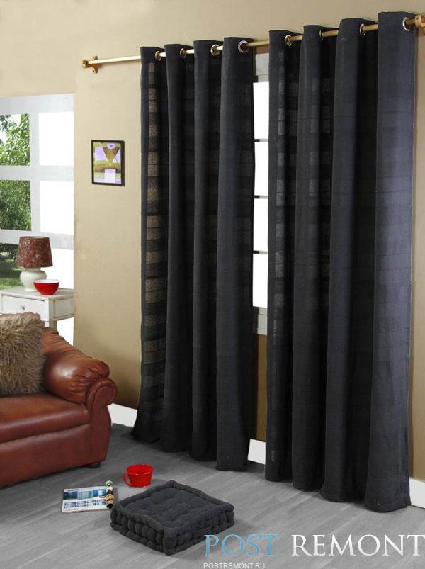 Черные шторы для спальни фото