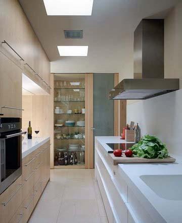 Дизайн кухни для темной комнаты