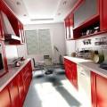дизайн узкой кухни фото