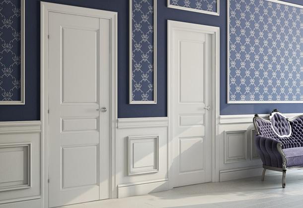 двери межкомнатные белые в интерьере фото