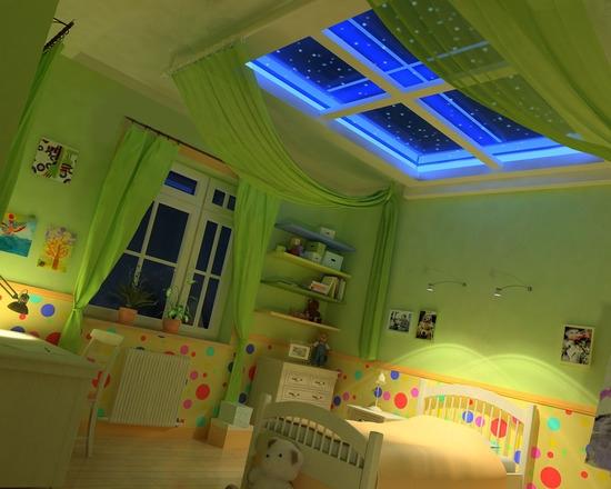 цвет потолка в детской комнате