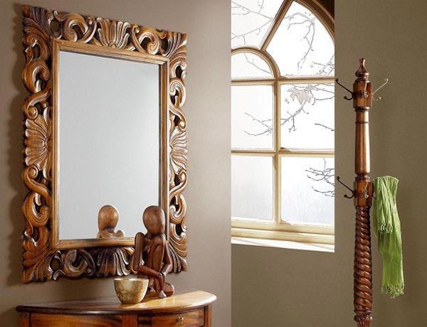 Как украсить стены зеркалами