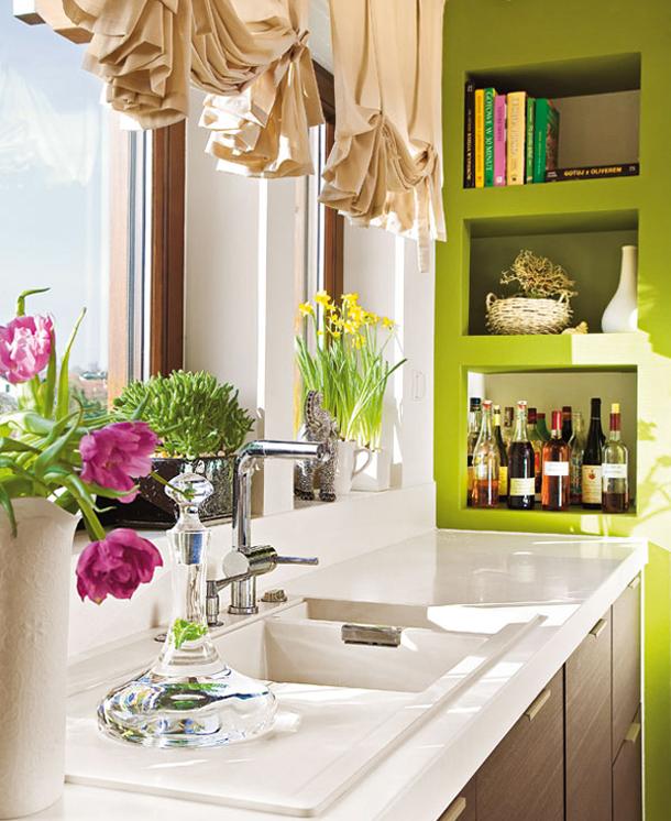 столешница-подоконник в кухне