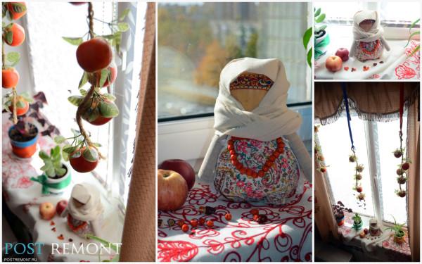 Осенний декор окна фото