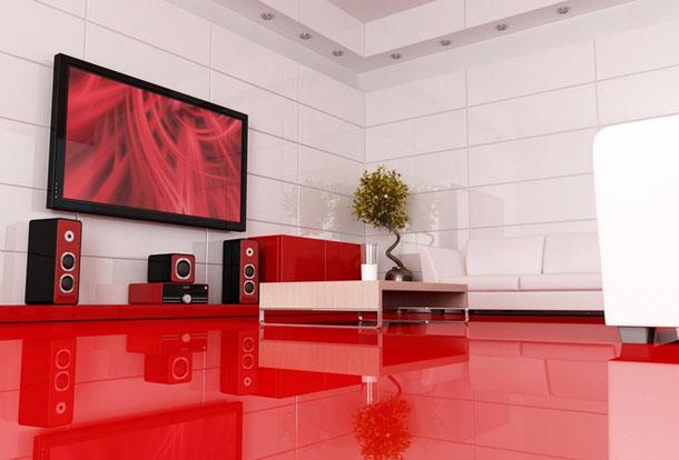 Красный пол фото