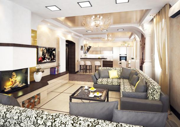 Как расставить мебель в узкой прямоугольной гостиной