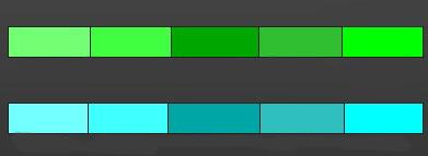 Сочетание зеленого с голубым