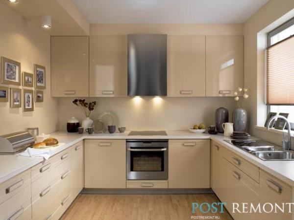 бежевые кухонные гарнитуры