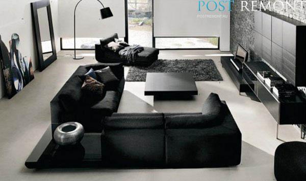elegantnyj-chernyj-divan-v-interere