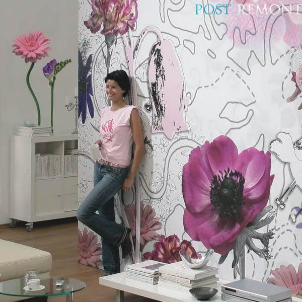 цветочные стены