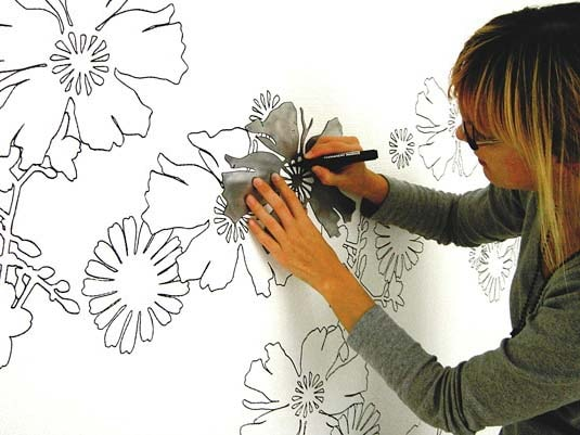 рисунки на стенах