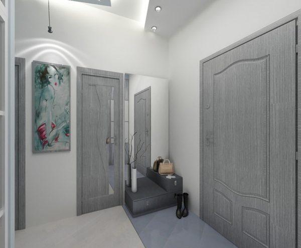 серые межкомнатные двери в интерьере