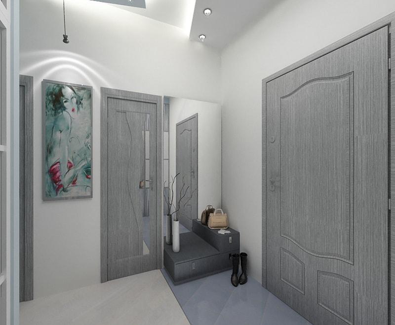 двери серые в интерьере фото