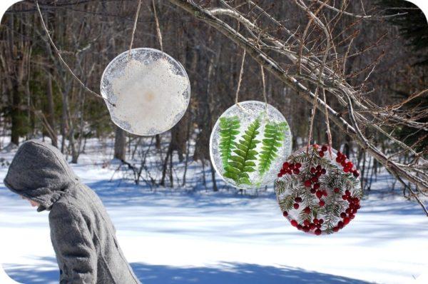 уличные украшения изо льда