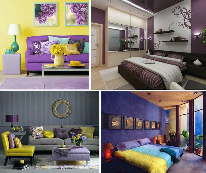 Сочетания с фиолетовым в интерьере, PostRemont