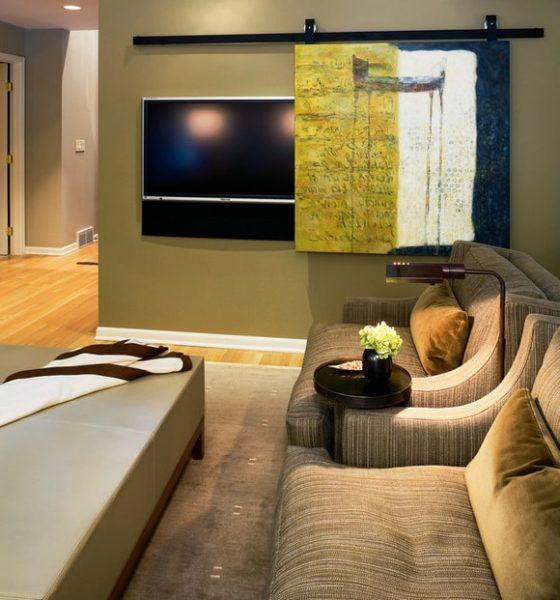Как спрятать телевизор в интерьере фото